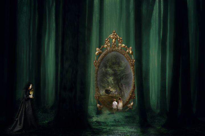 Spiegels, spiegel, geluk, fortuin, geesten, demonen, vloek, beschermen